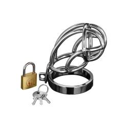 Peniskäfig -Captus Stainless Steel Locking Chastity Cage